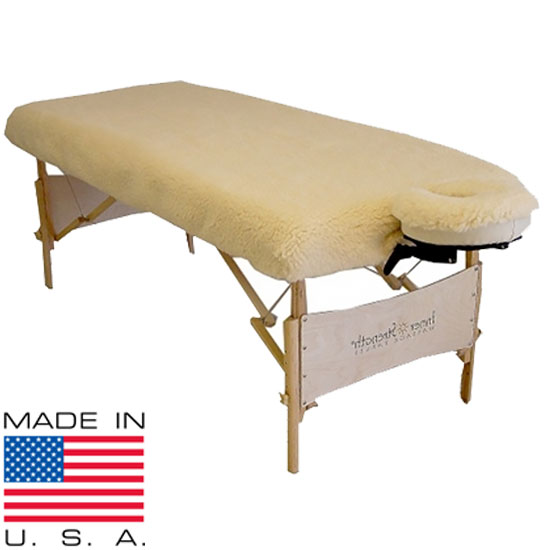 Massage Table Fleece Pad Set - Fitted table pads