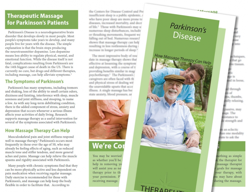 Parkinsonu0027s Disease Massage Brochure