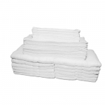 A Full Set of Premium Quality Ring Spun Towels - 12 Pack