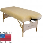 Deluxe Fitted Fleece Table Pad & Face Cradle Cover Set