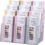 1,200 Massage Brochures & 12-Unit Display Rack Special